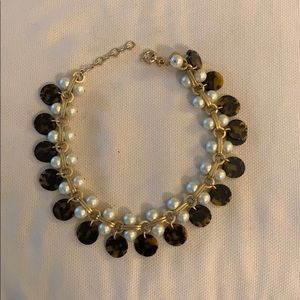 JCrew Pearl & Tortoiseshell Necklace